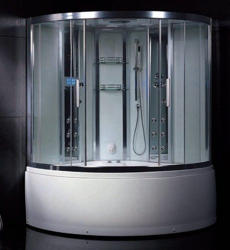 Wasauna Novara Steam Shower Tub Combination Unit 2 Persons Capacity 20 Jets 3kw Steam G Steam Shower Enclosure Shower Enclosure Kit Steam Showers Bathroom