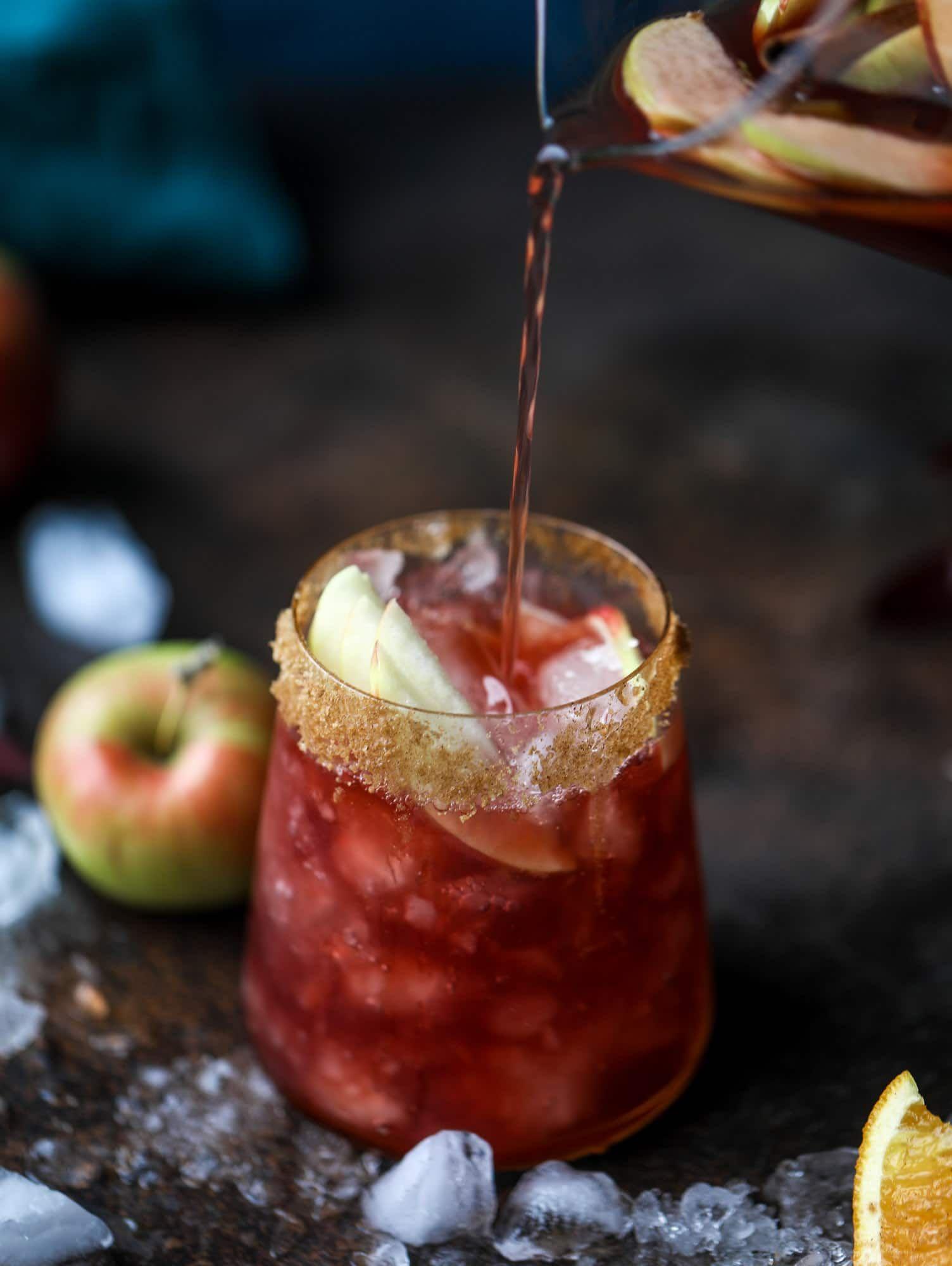 Red Apple Cider Sangria Red Apple Cider Sangria Recipe Apple Cider Sangria Recipe Cider Drinks Apple Cider Sangria