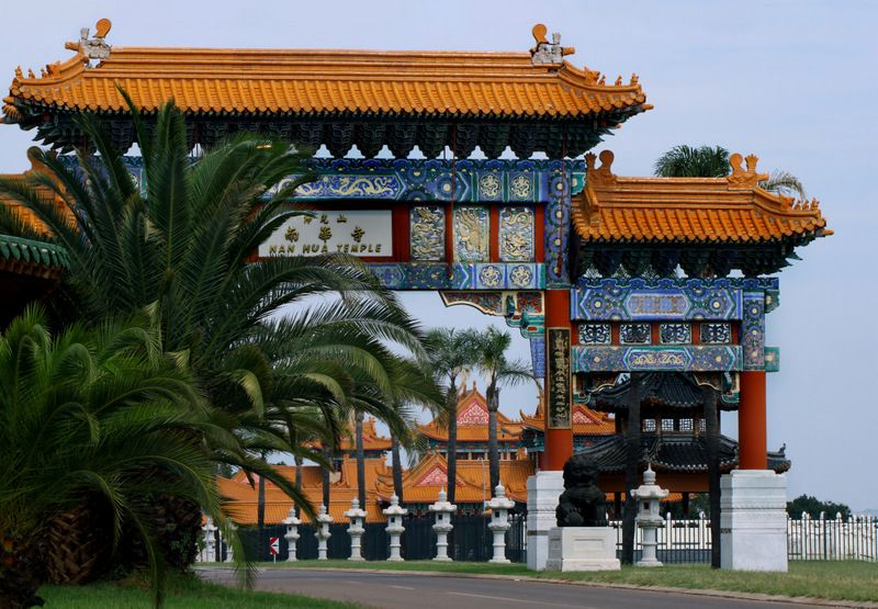 Nan Hua Chinese temple is near Bronkhorstspruit - to the east of Pretoria.