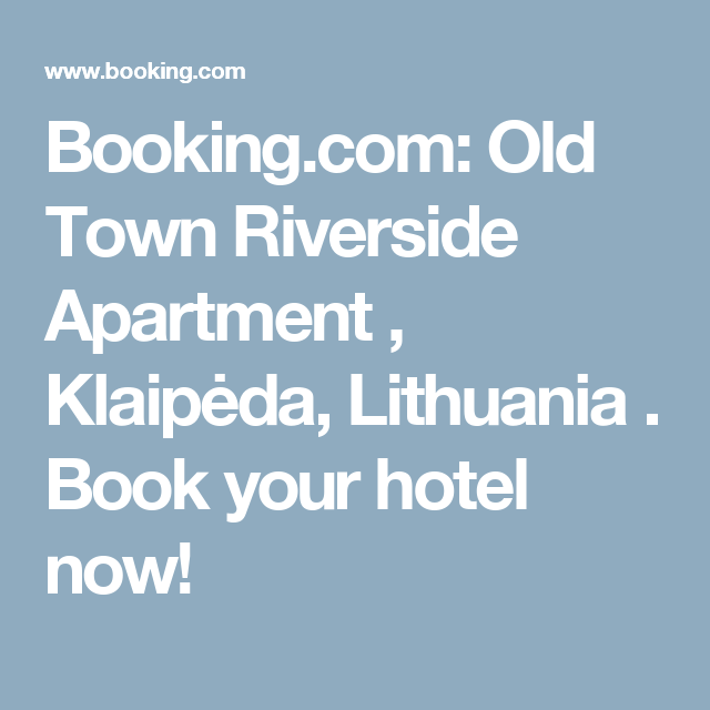 Booking.com: Old Town Riverside Apartment , Klaipėda, Lithuania . Book your hotel now!