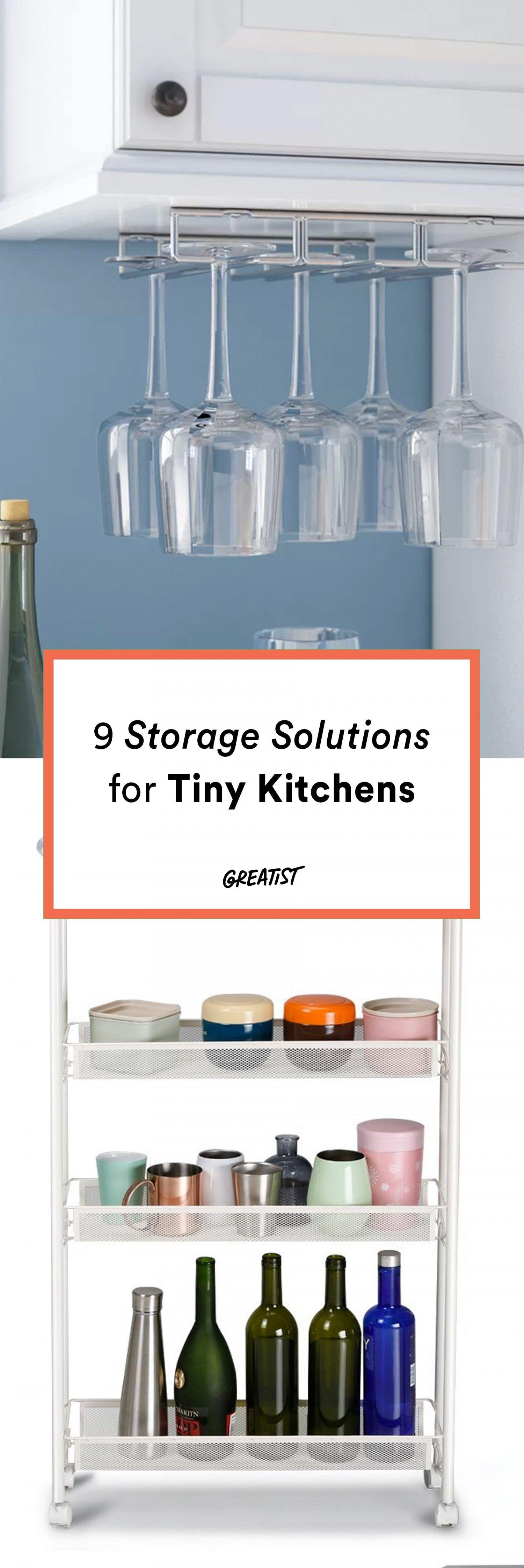 9 Storage Solutions for Tiny Kitchens | Kitchen Hacks | Pinterest ...