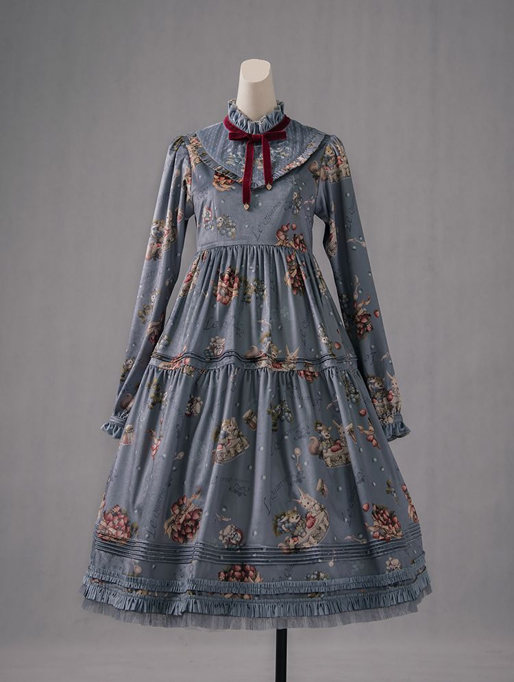 21ee8b3adcc Cherry Bomb -The Four Seasons- Classic Lolita OP Dress Printed Version