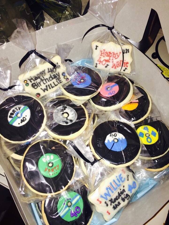 Who Remembers The Vinyl Vinyl Record Cookie Favors For A