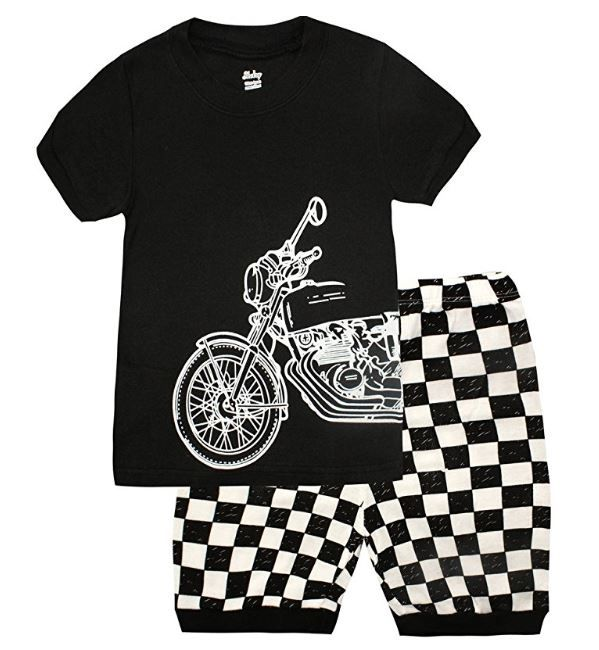 0e318086af67 Amazon  Pajamas for Boys Car Cartoon Summer Cotton Sleepwear for ...
