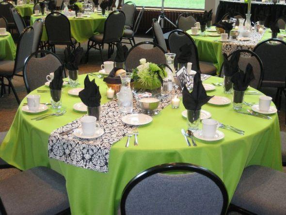 Black White Green Wedding Lf Lime Purple Damask Wedding