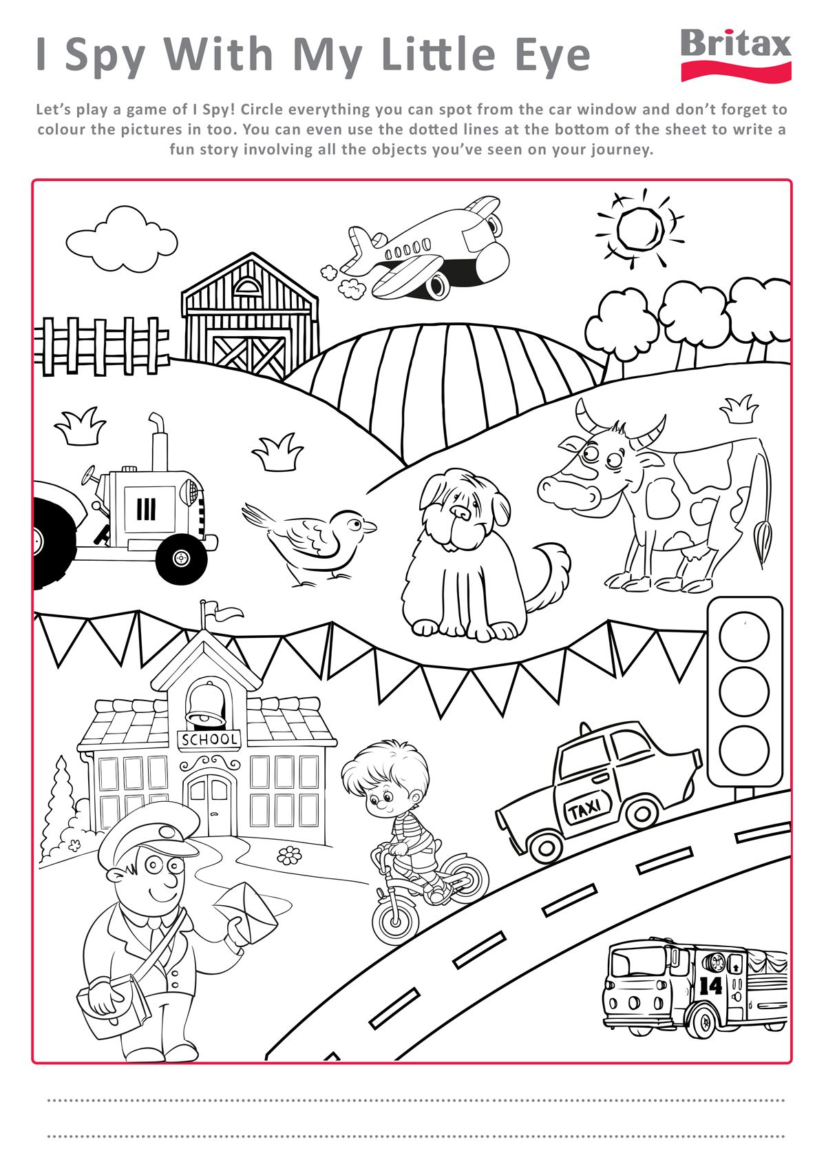 We Love This Printable Colour Sheet From Britax To Entertain Your