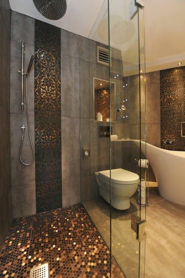 Ba o peque o y elegante toilettes pinterest ba o for Banos pequenos lujosos