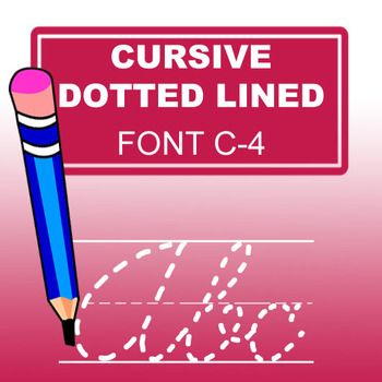 Cursive Dotted Lined Font, especially designed for teachers