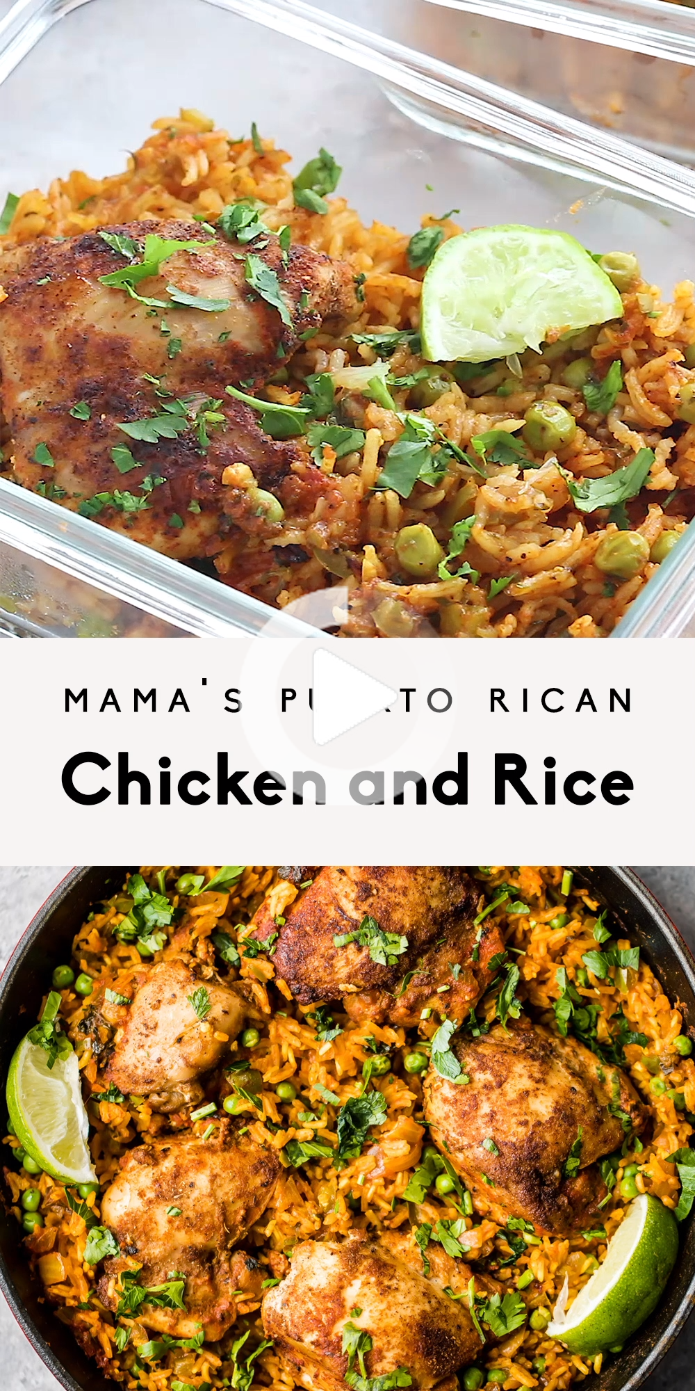 Mama Puerto Rico Chicken And Rice Znany Rowniez Jako Arroz Con Pollo Ten Pan Obiad Jest Wykonan In 2020 Healthy Chicken Recipes Chicken Dinner Recipes Kitchen Recipes