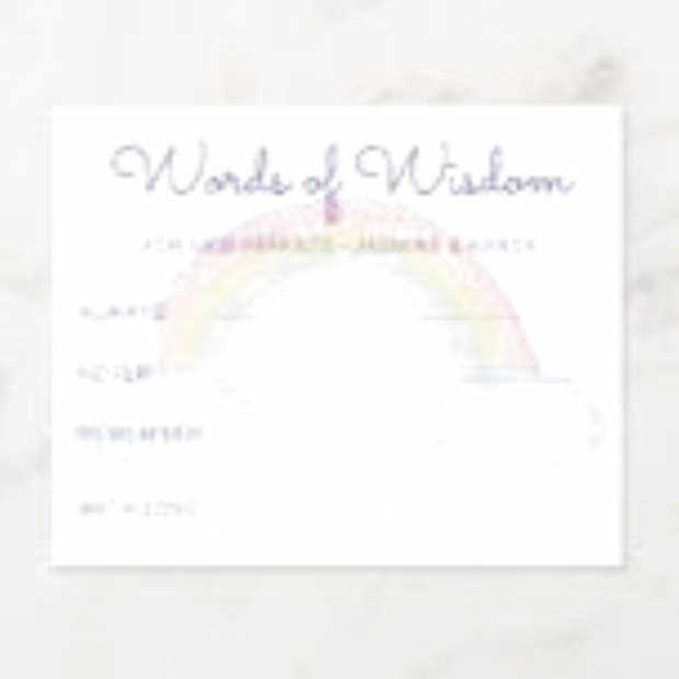 Rainbow Words of Wisdom New Parents Baby Shower perfect gift for father dad and papa on Fathers Day Birthday Christmas and other occasions #father #dad #papa #gift #fathersday