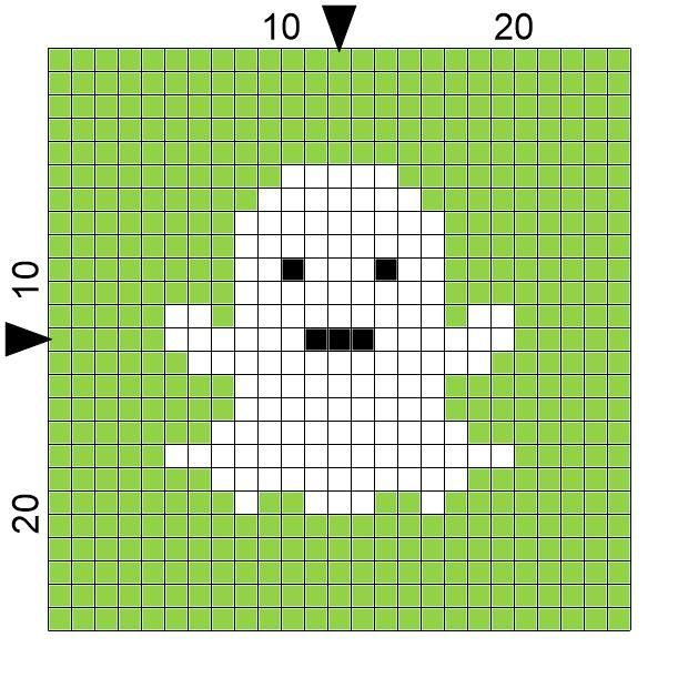Spre Patterns Design Crochet Ghost Square Graphs Pinterest