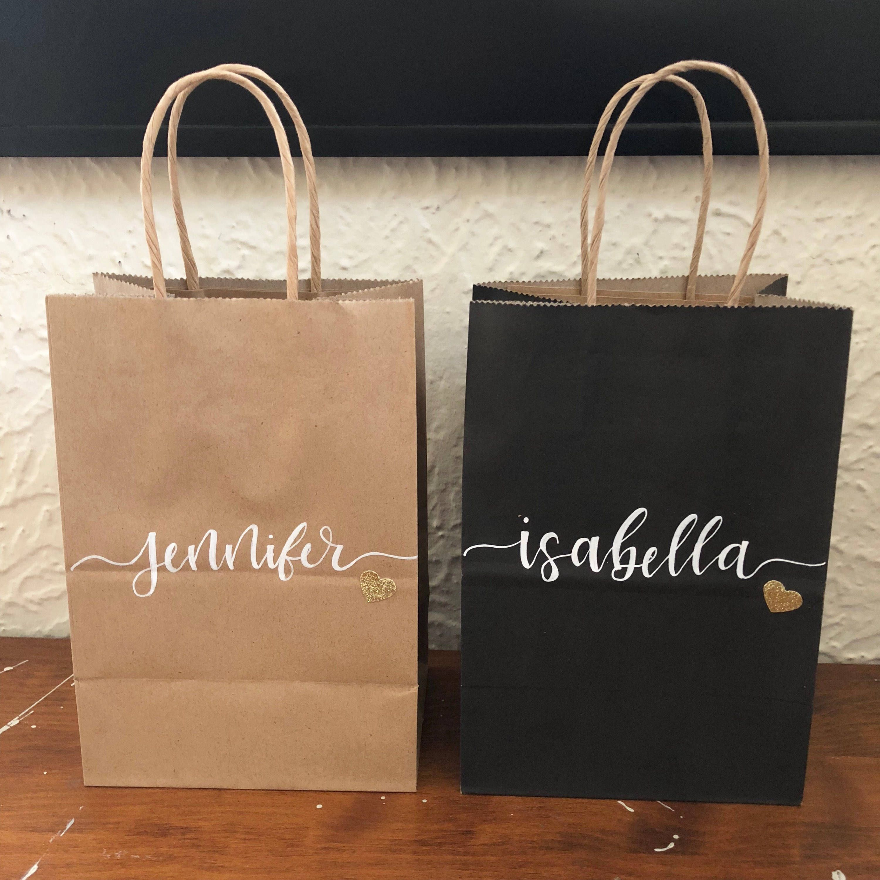 Personalized Gift Bags Hand Letter Wedding