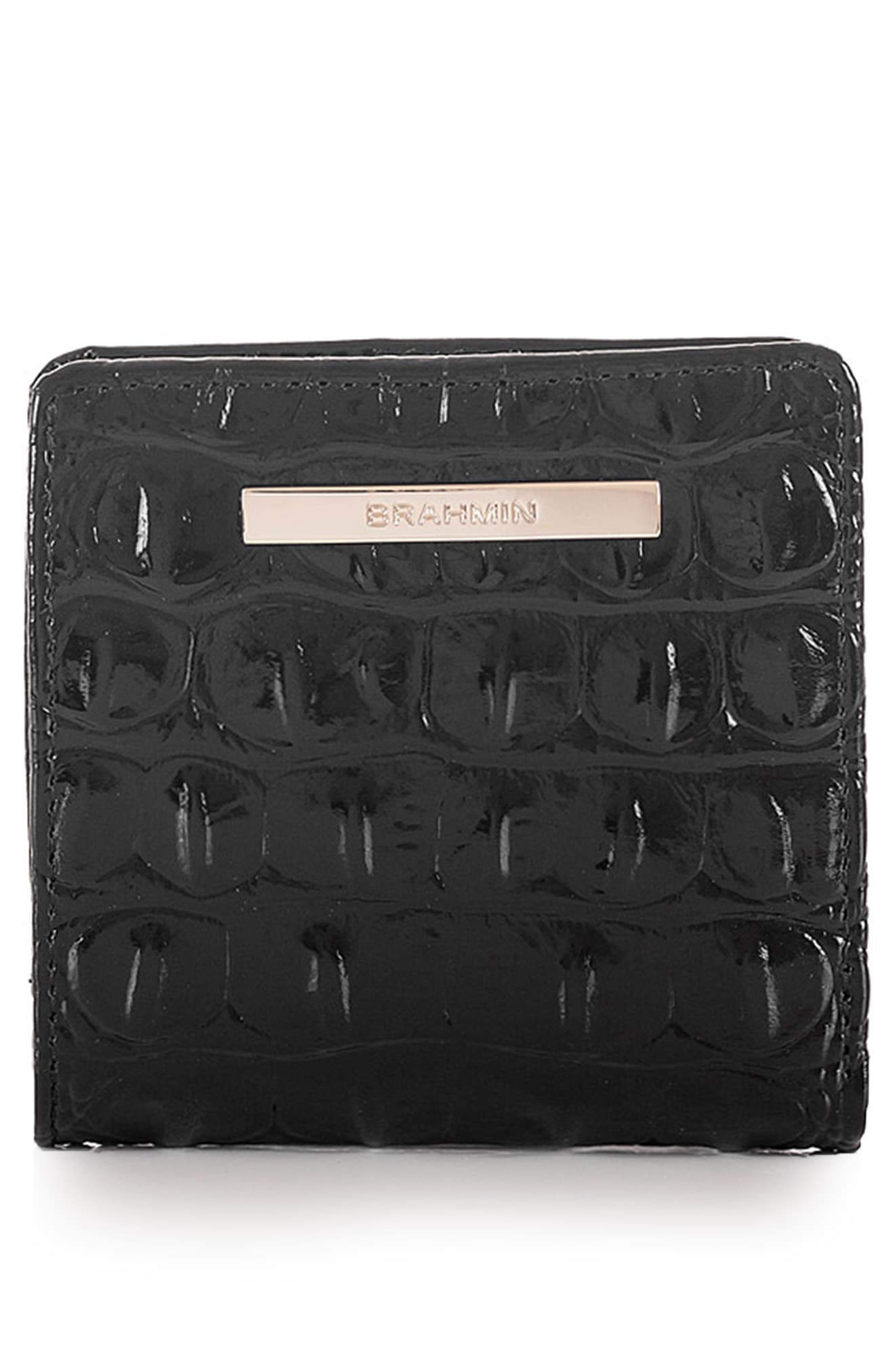 Brahmin Jane Croc Embossed Leather Wallet Wallets For Women Leather Leather Wallet Crocs