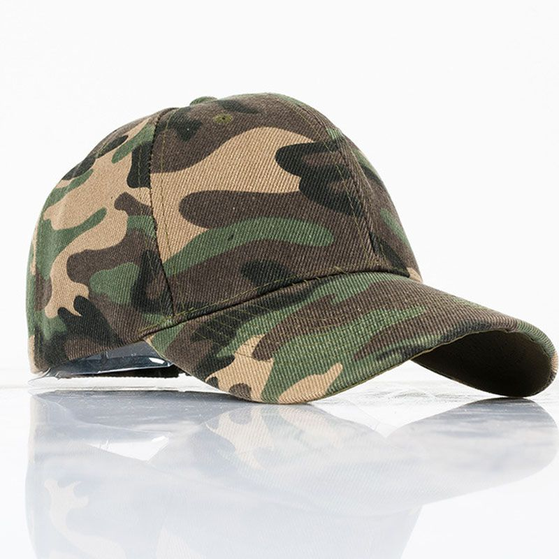 28961b26166 20 Mens Army Camo Cap Baseball Casquette Camouflage Hats For Men Hunting  Camouflage Cap Women Blank Desert Camo Hat