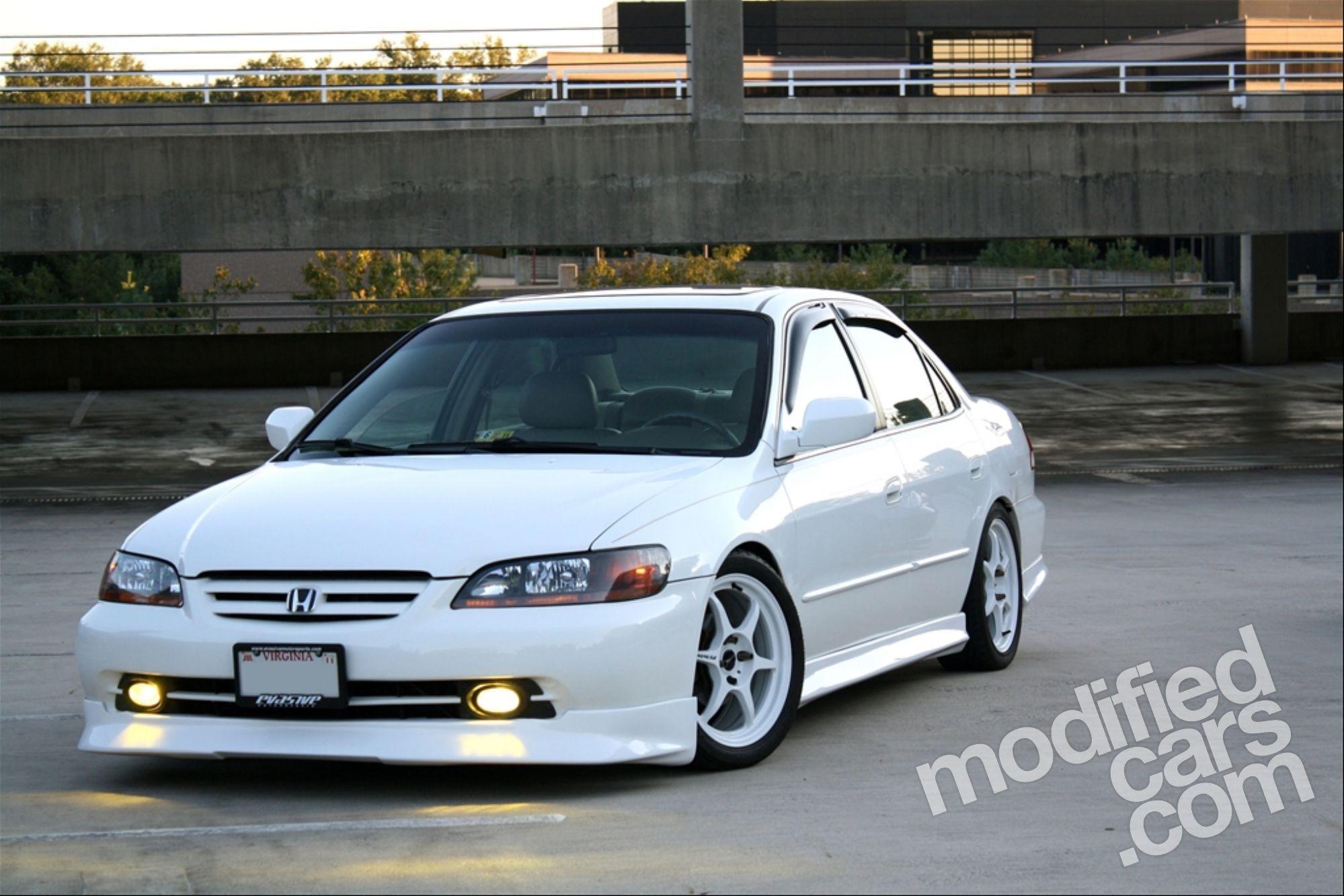 2002 Honda Accord Ex Custom | Champion White Honda Accord 2002 Car Images    NIHON HONDA