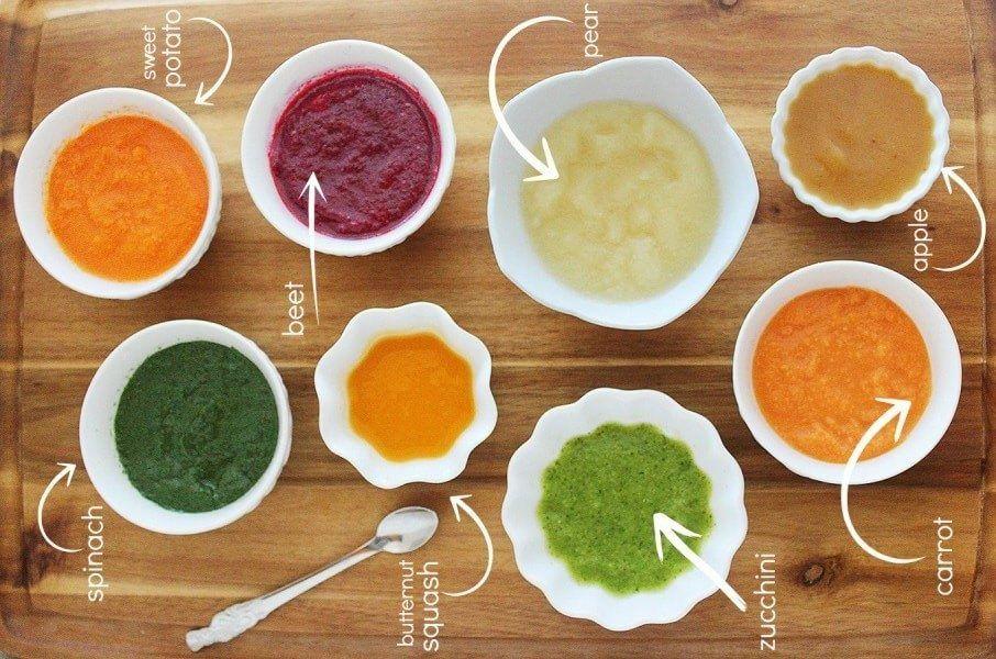 Menu Mpasi 6 Bulan Dan Cara Buatnya Resep Makanan Bayi Makanan Bayi Baby Puree