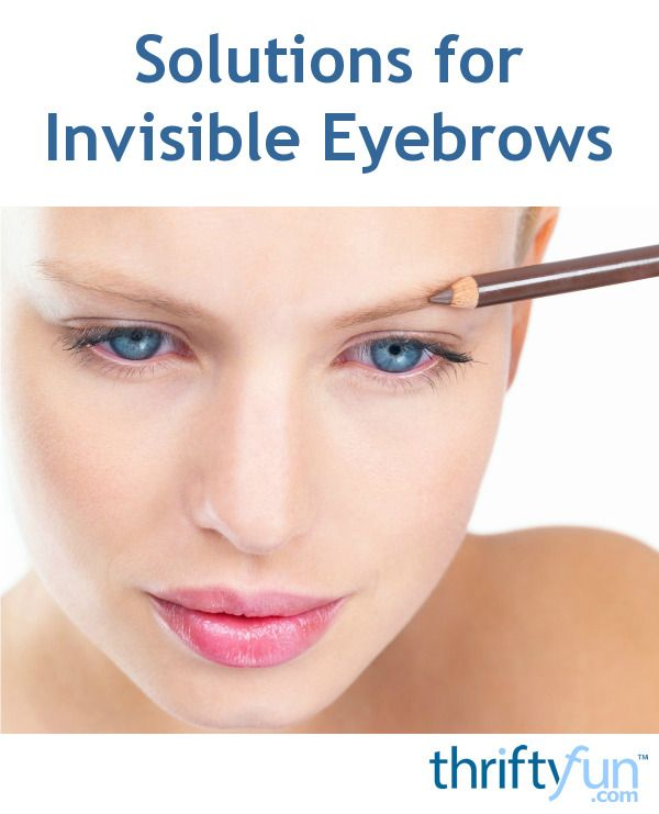 Solutions for Invisible Eyebrows