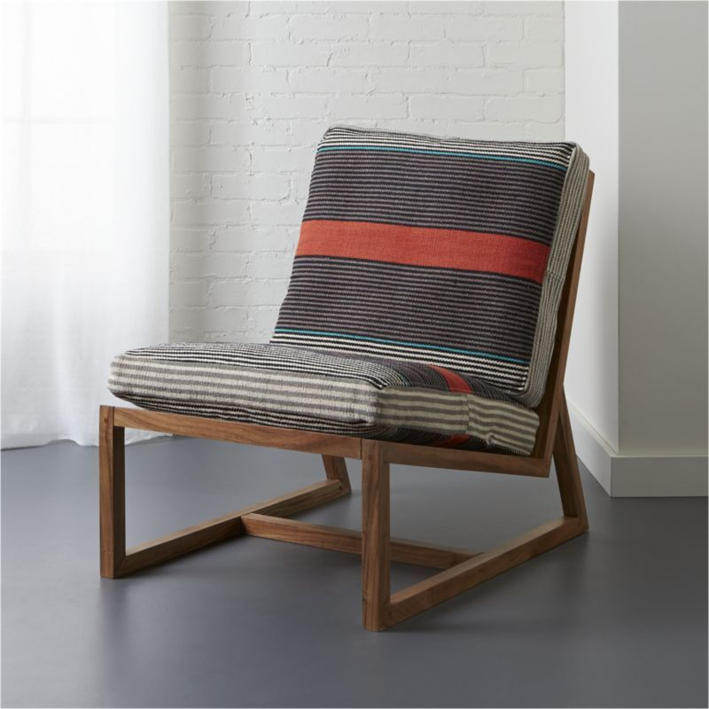 Loose Dhurrie Cotton Cushions Retro Vibe In Wide Stripes Of Orange Grey Cream And Turquoise Comfortably Support Hours