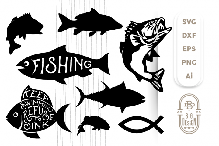 Download Card Making Stationery Materials Cat Fish Cut Files Svg Studio 3 File For Silhouette Brother Cricut Cutouts Decals Designs Svgs Cutout Stencil Stencils Fishing