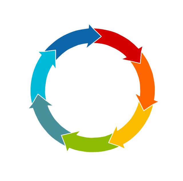 Circular Diagrams Vector Stencils Library Circle Diagram Circular Circulation