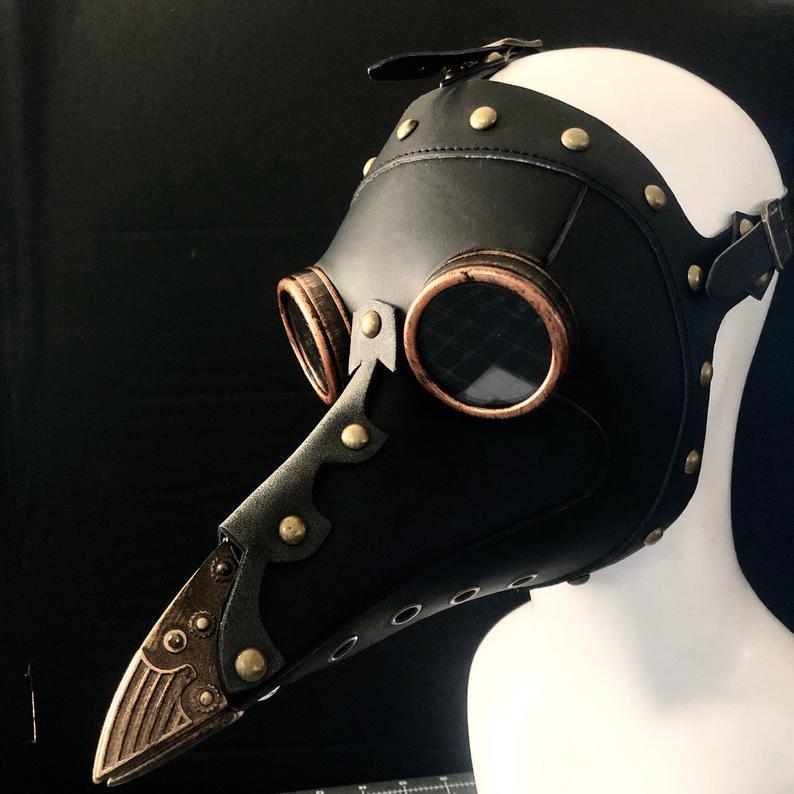 Plague doctor Mask Hat Plague Mask Faux Leather bird mask ...