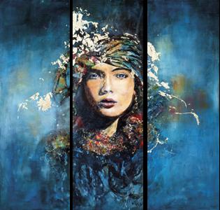 Glasschilderij Vrouw Schilderij Glas Schilderij Kunst Ideeen