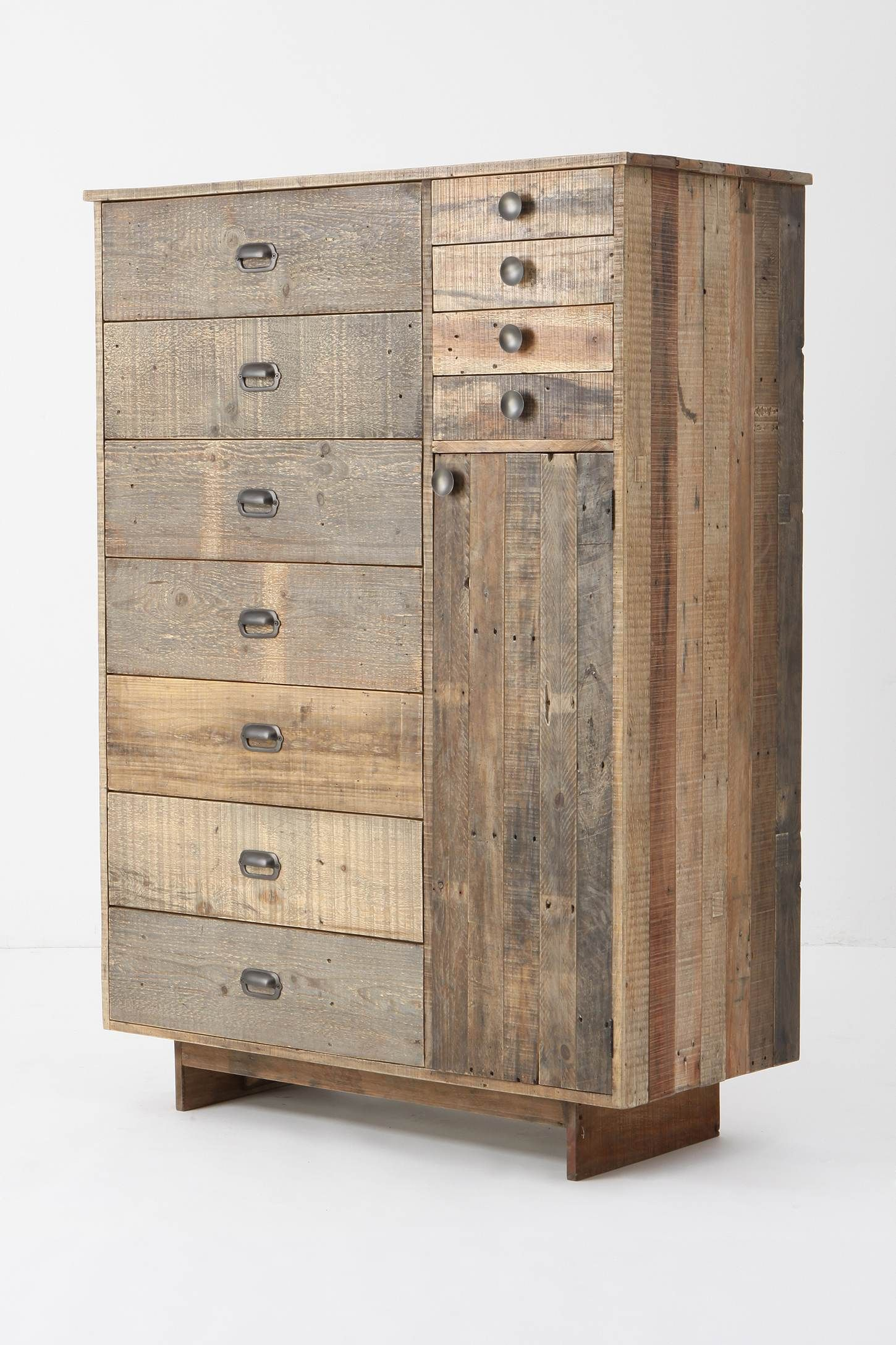 Images about old barn wood furniture on pinterest - Dresser Cabinet With Rustic Reclaimed Wood And Various Size Drawers Anthropologie