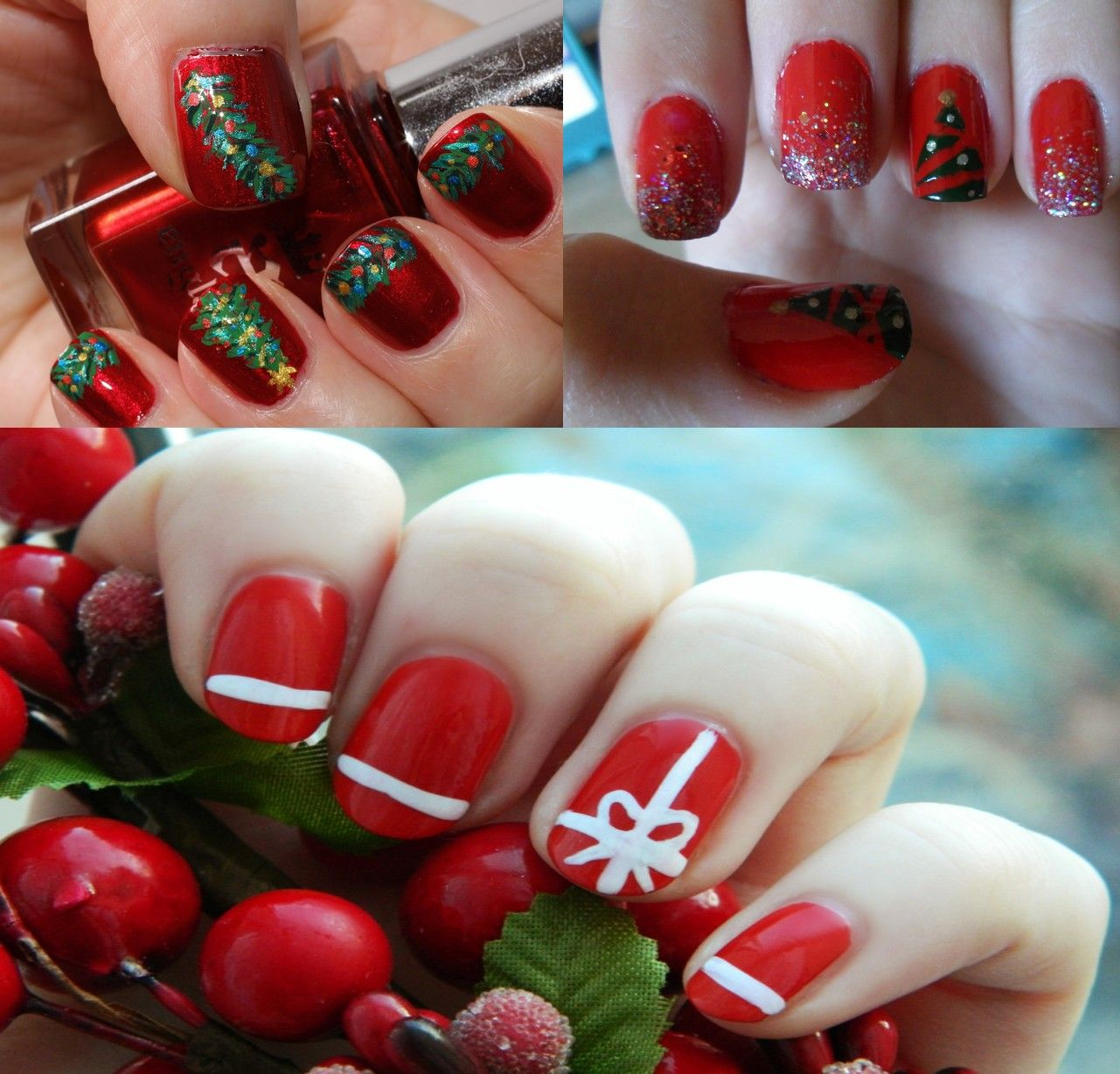 Beautiful Nail Art Designs,Delightful Christmas Nail Art Designs,DIY Cool  And Easy Christmas Nail Art Designs,Best Nail Art Designs For Christmas,Cool  And ... - Christmas Nail Designs - Google Search Arts & Crafts Pinterest