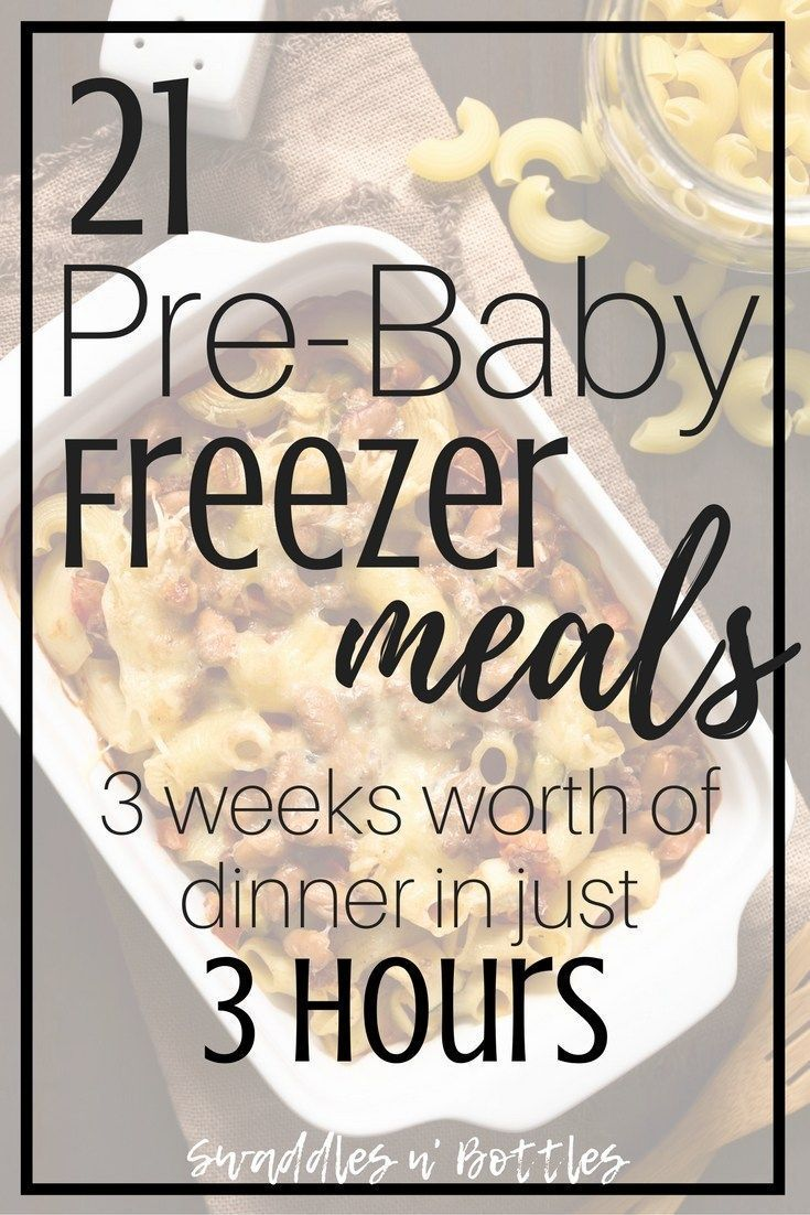 Pre-Baby Meal Prep- 21 Freezer Meals to Make images