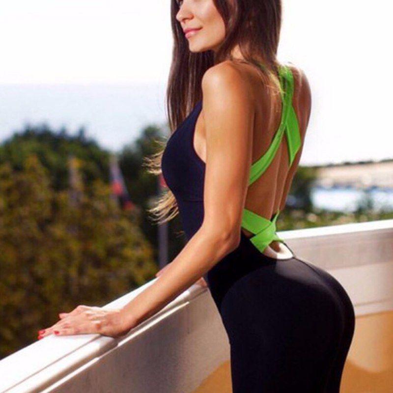 2017 Donne Calde di vendita Elasticità Fitness Tuta & Pagliaccetti Skinny Body Fasciatura di Modo Sottile Tuta