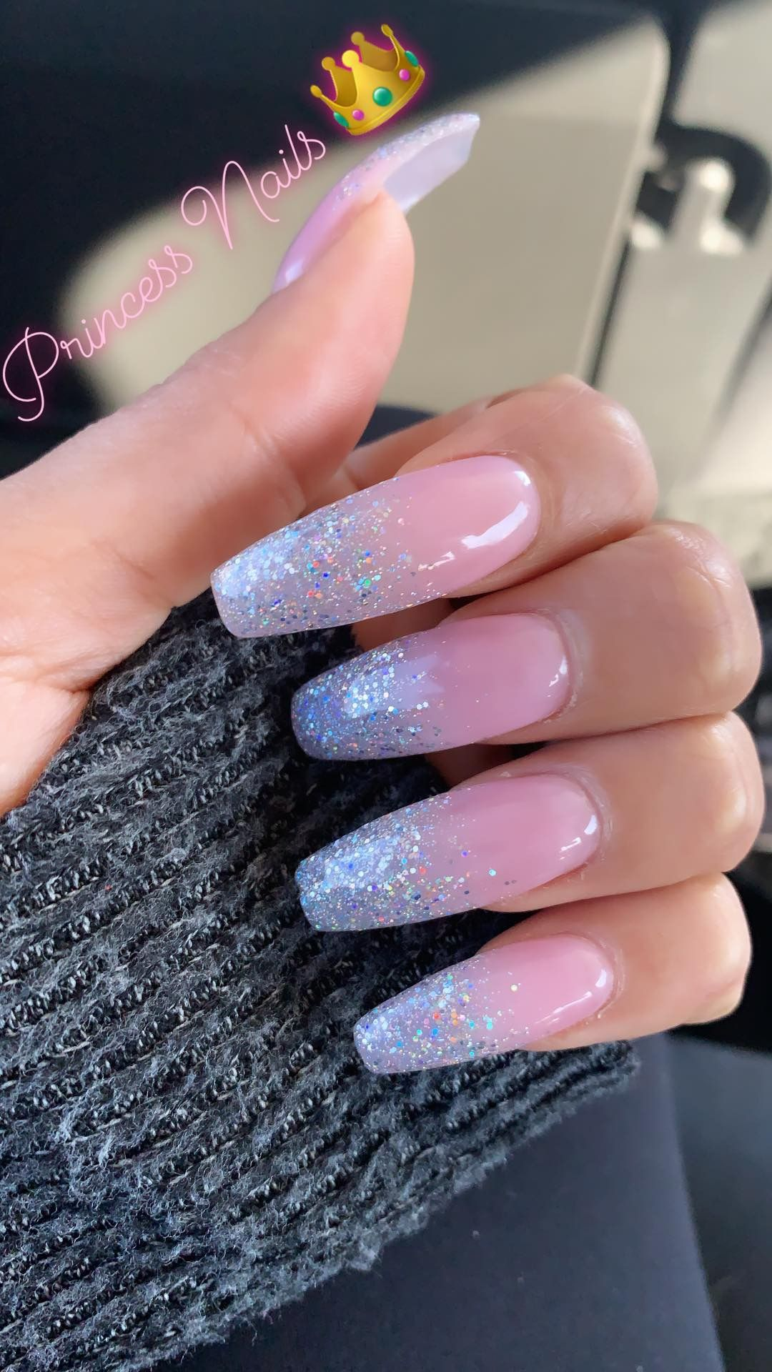 Princess Coffin Nails! 👑 in 2019 | Coffin shape nails ...