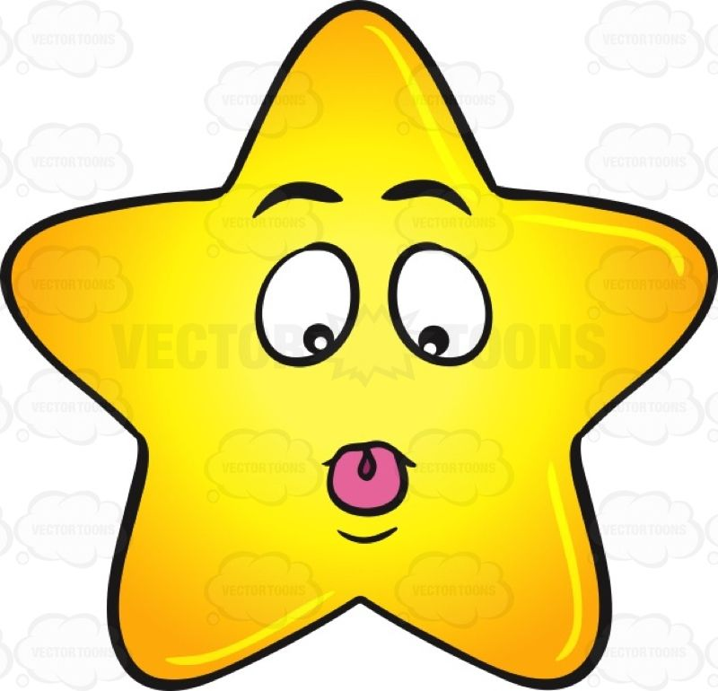 Silly Single Gold Star With Tongue Stuck Out Emoji Stars Gold Stars Cute Stars