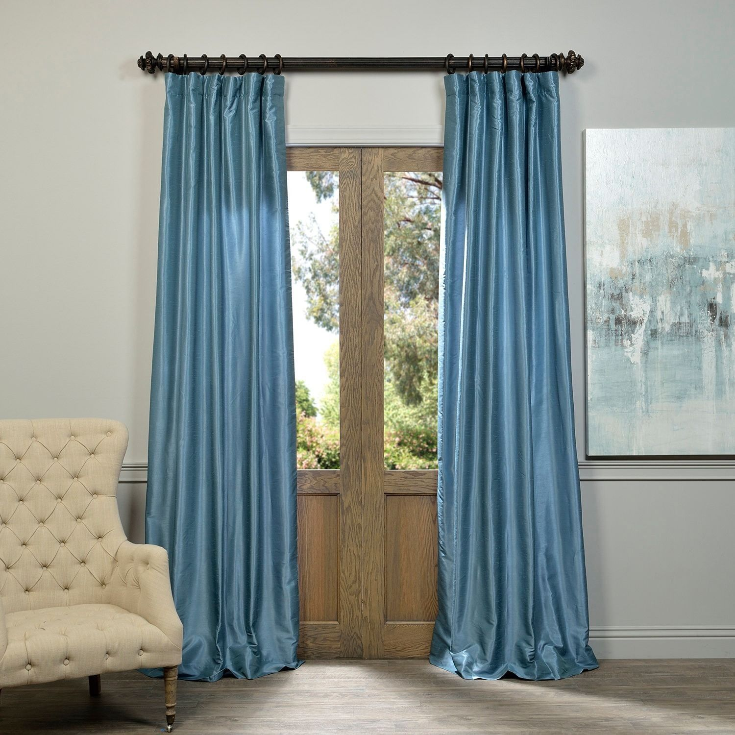 Add a little texture and dimension to your window treatments with