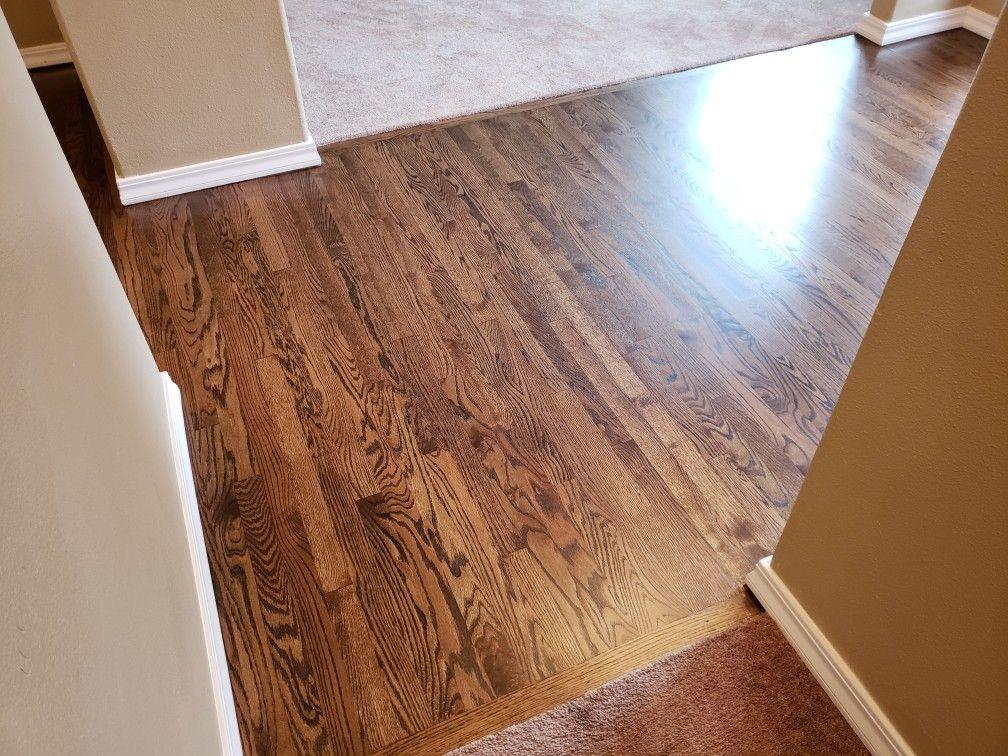 Duraseal Dark Walnut On Red Oak Red Oak Hardwood Floors Red Oak Hardwood Dark Walnut Floors