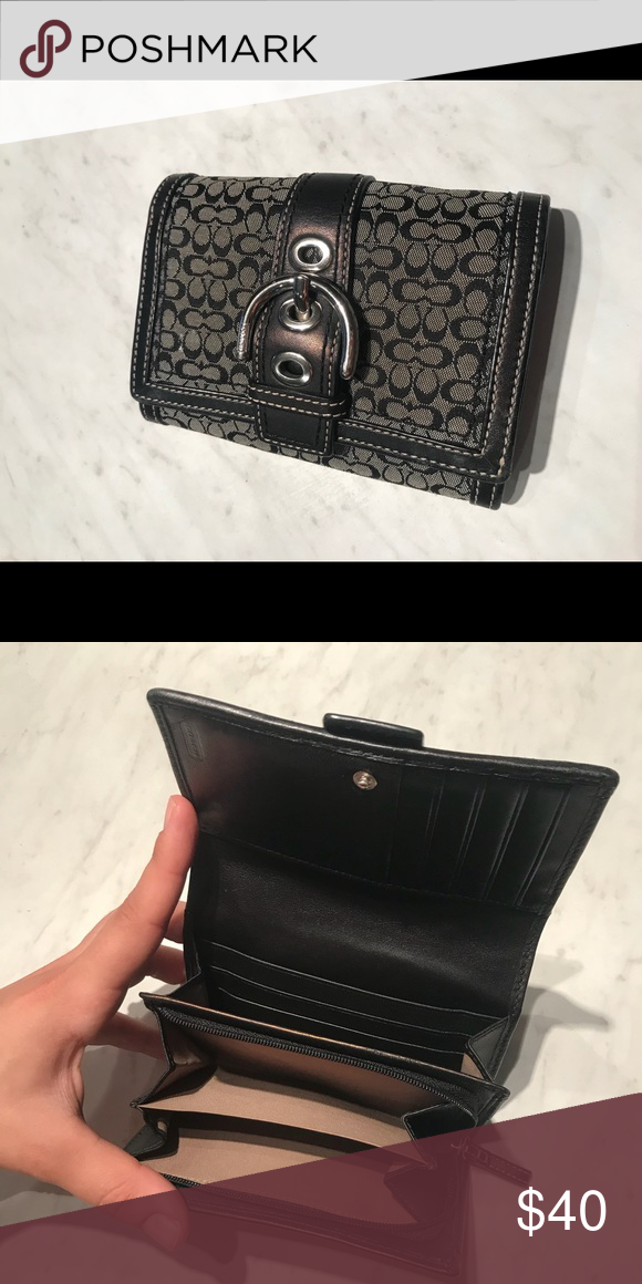 c972c8a915a Coach wallet Small signature coach wallet. Super functional. Gently used.  Goes with everything! Coach Bags Wallets
