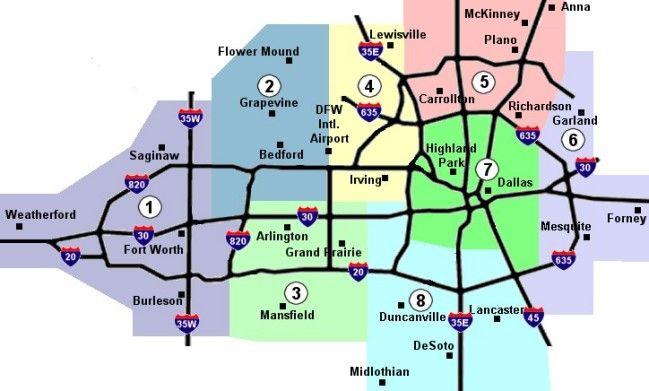Cool Dallasfort Worth Metro Map Travelquaz Pinterest Dallas: Map Of Dallas Region At Usa Maps
