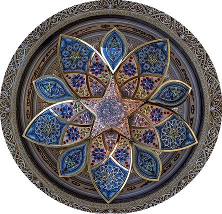 Chandelier on ceiling of foyer of sheik zayed grand mosque in abu dhabi uae source mystic - Grand mandala ...