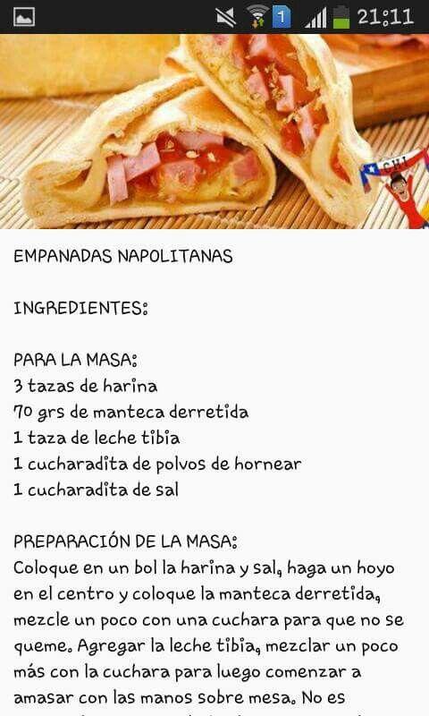 Empanadas Napolitanas Receta De Empanadas Comida Receta Para Hacer Helado