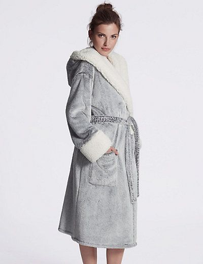 Luxury Hooded Shimmer Dressing Gown | Fashion | Pinterest ...