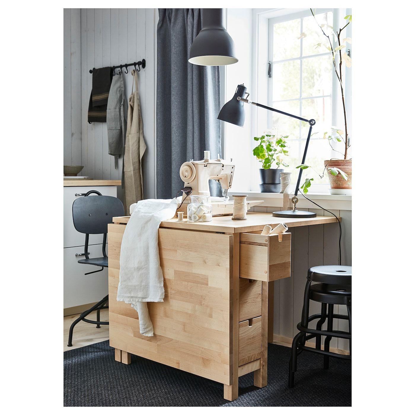 Norden Gateleg Table Birch Ikea Norden Gateleg Table Ikea Small Spaces Sewing Room Inspiration