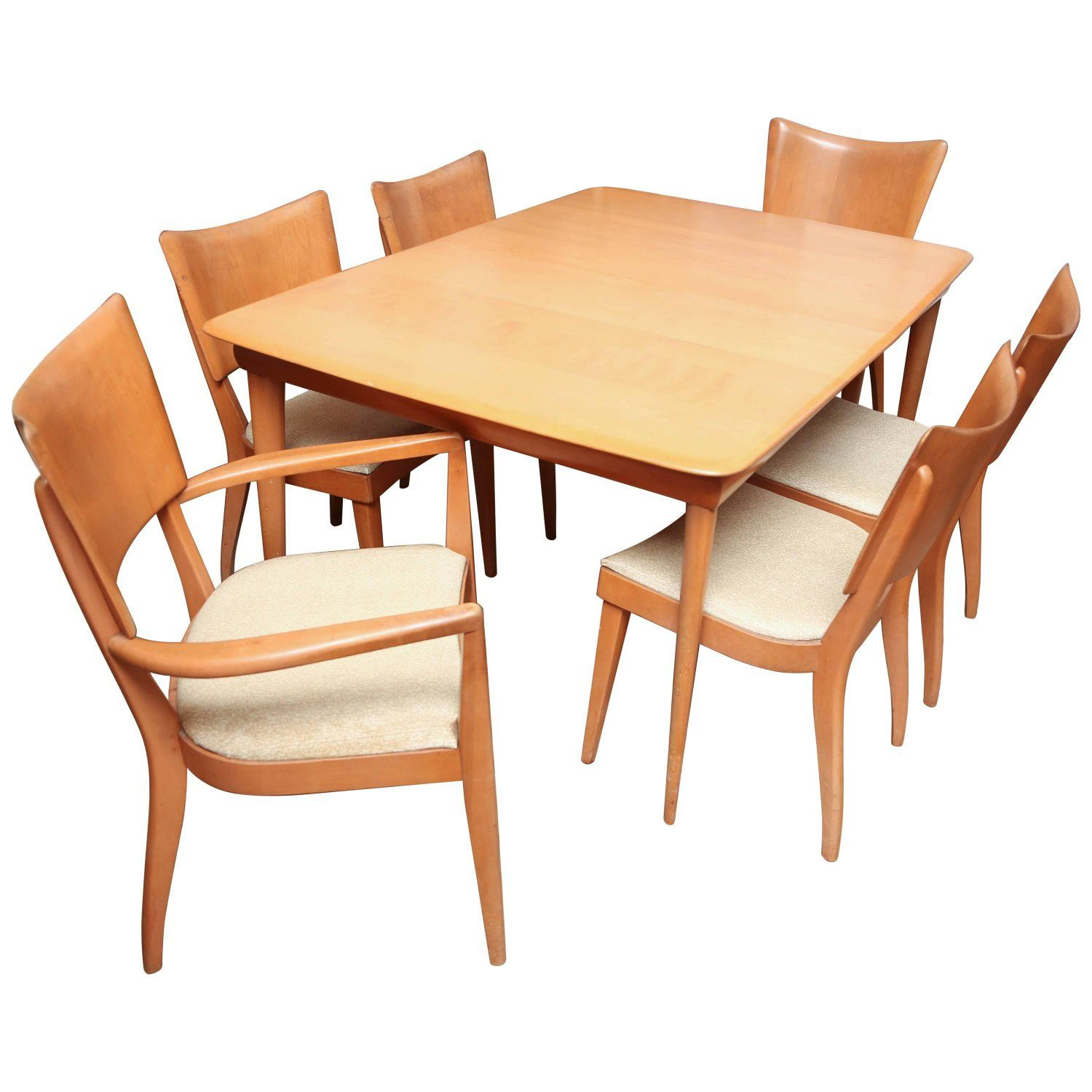 Heywood Wakefield Dining Chairs Heywood Wakefield Dining Room Set With Six Chairs 1960s Usa My