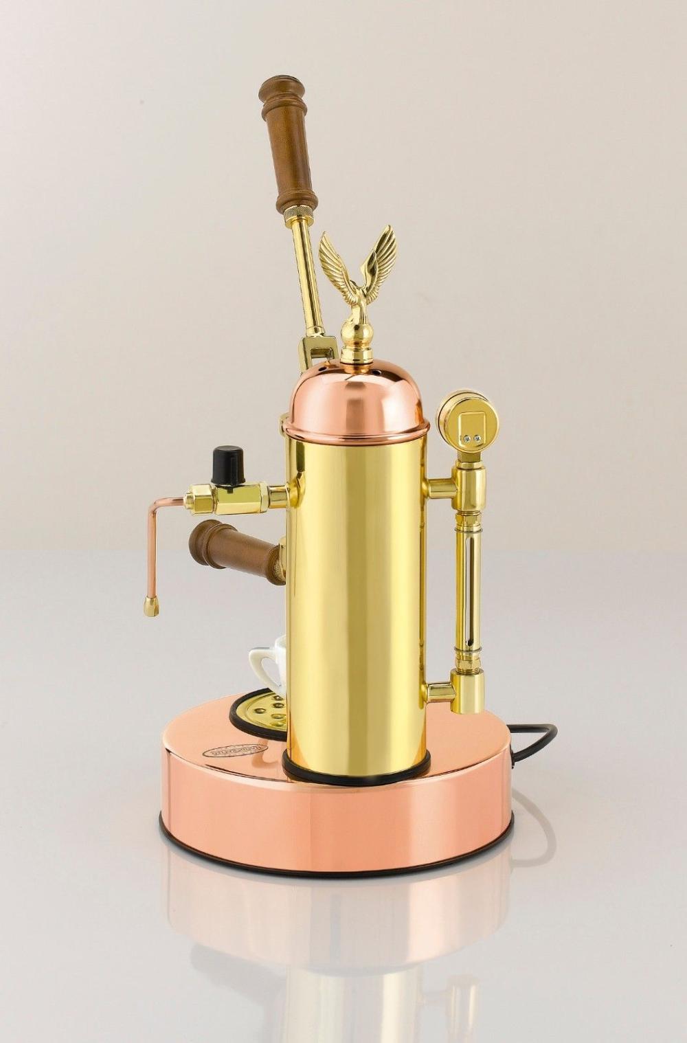 Elektra Micro Casa Copper Brass Manual Lever Espresso & Cappuccino Machine 110V   eBay