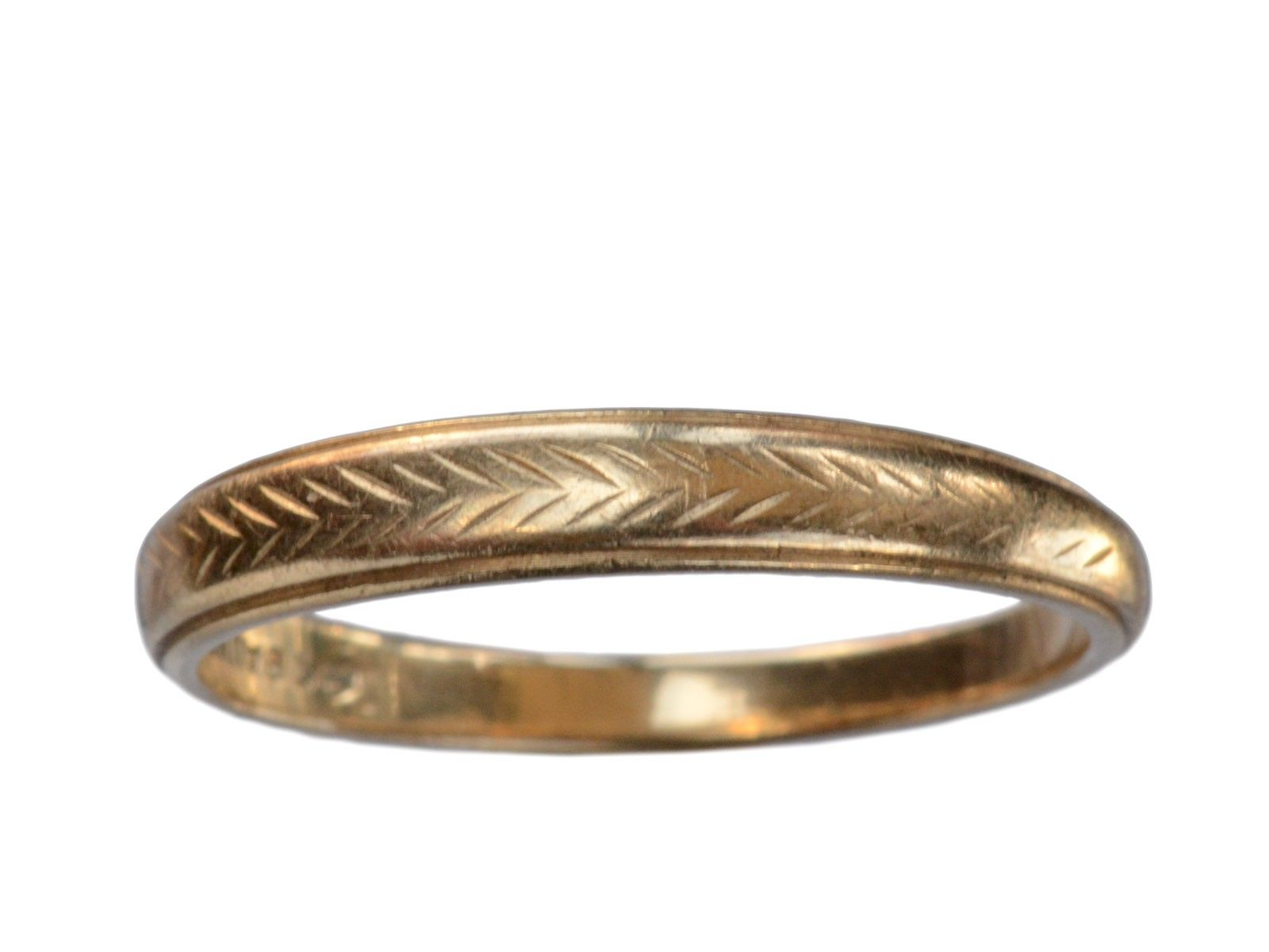 1940s Chevron Wedding Band I Do Engagement Rings
