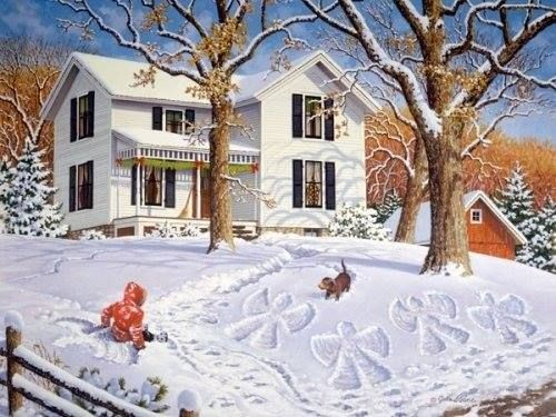 Angels in the Snow by John Sloane
