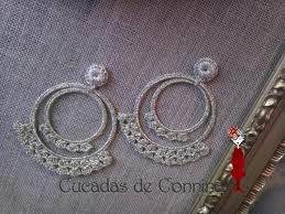 Elegantes pendientes a ganchillo.Beautiful Spanish crocheted earrings.