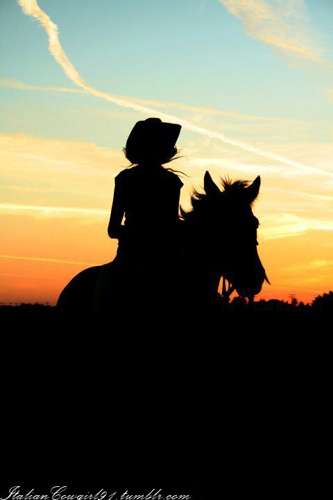 Sunset Rides (me and my Paint mare)