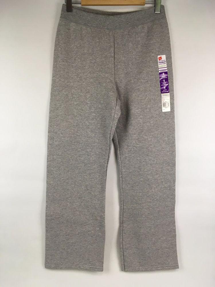 eb1a732b5fba NEW Womens Hanes Petite S ComfortSoft Wide Leg Fleece Sweatpants Heather  Grey  Hanes  TrackSweatPants