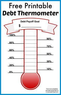 Free Printable Debt Thermometer Debt Repayment Debt And
