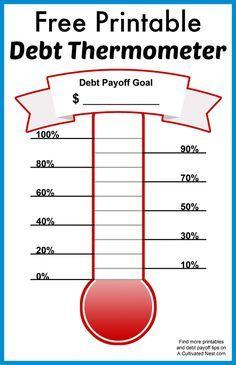 Free Printable Debt Thermometer Free Printables Debt