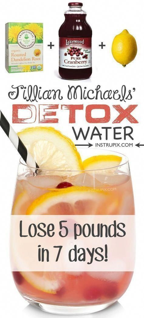 #fitness #health JIllian Michaels detox water to feel better in 7 days. #detox #naturaldetox